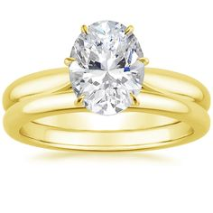 18K Yellow Gold Catalina Matched Set from Brilliant Earth