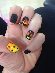 Mi uñas de Halloween!
