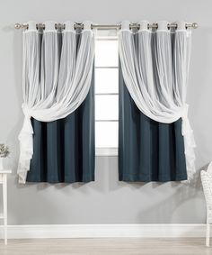 Take a look at this Navy Tulle Blackout Short Curtain Panel - Set of Four today!