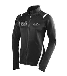 Custom dance jacket for Greater Boston School of Dance. Looking for team wear and apparel for your studio. Call or email us to get your online site. Hassle free ordering, let the parents order what they want, you don't have to collect sizes or money. And everything is either shipped to the studio or parents. info@monogramthat.com 248-499-9303