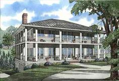 Stately Southern Design with Wrap-around Porch - 59463ND thumb - 01