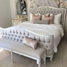 This fab Weathered White bed heading to my client in Raleigh