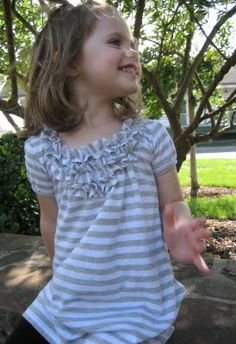 Sutton Grace: refashioned:: t-shirt to little girls top- version two