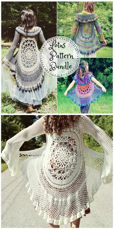 Crochet circular jacket pattern ideas the whoot Crochet Circle Vest, Crochet Jacket Pattern, Crochet Coat, Crochet Circles, Diy Crochet, Crochet Clothes, Crochet Patterns, Sewing Patterns, Crochet Shawls And Wraps
