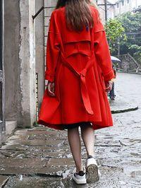 Buttoned Cotton-blend Long coat