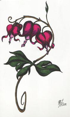 Traditional Bleeding Heart Tattoo Bleeding heart flowers by infamous ...