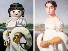 The kids will love this: Artist Pierre-Adrien Sollier revisits famous works of art, staging Playmobil toys instead of the original characters.