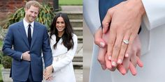 best celebrity engagement rings Meghan Markle - From oval- to round- to emerald-cut and from diamonds to sapphires to emeralds, these fabulous celebrity engagement rings are seriously lustworthy. Meghan Markle Engagement Ring, Royal Engagement Rings, Celebrity Engagement Rings, Cheap Engagement Rings, Beautiful Engagement Rings, Family Engagement, Celebrity Rings, Hollywood Jewelry, Royal Rings