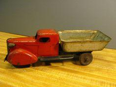 Dump Truck, Tin Toys, Toy Trucks, Vintage Toys, Wooden Toys, Steel, Christmas, Ebay, Activity Toys
