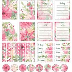 Silhouette Design Store - View Design #111043: watercolor daisy bouquet planner stickers