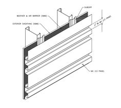 Construction on pinterest rolling shutter rainscreen for Structural integrated panels
