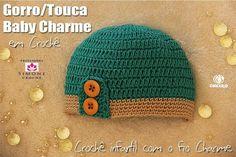 5a1756397d8ee Gorro Baby Charme em crochê - Professora Simone - YouTube Gorros De Crochê  Para Bebês