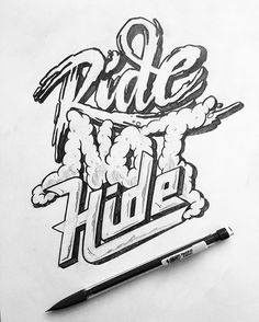 #ride not #hide with @friks84 How lovely it could be with just a simple #pen #handmadefont