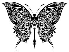 Butterfly Tattoo - its meaning and many design ideas - Tattoo Ideas & Trends Tribal Animal Tattoos, Tribal Cross Tattoos, African Tribal Tattoos, Tribal Forearm Tattoos, Sun Tattoo Tribal, Tribal Art, Tiger Butterfly Tattoo, Unique Butterfly Tattoos, Lizard Tattoo