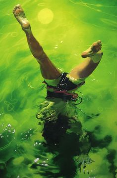 As pinturas subaquáticas de Sarah Harvey