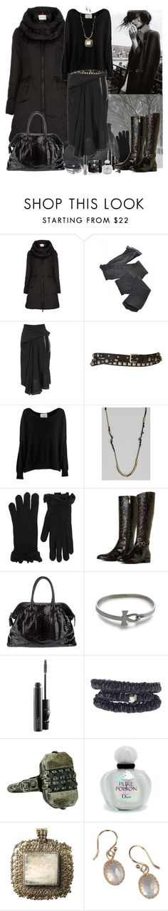 """""""."""" by fieruta ❤ liked on Polyvore featuring Moncler, Fogal, Balenciaga, Pieces, Friendly Hunting, Jensen-Conroy, Sonia by Sonia Rykiel, Talbots, Zagliani and MAC Cosmetics"""