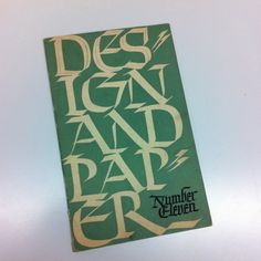 Design and Paper, Number Eleven. Cover by Oscar Ogg