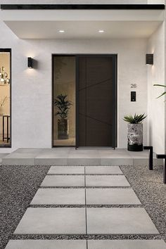 Modern Entrance Door, House Entrance, Apartment Entrance, Garden Entrance, Landscape Design, Garden Design, Decoration Entree, Outdoor Tiles, Front Yard Landscaping