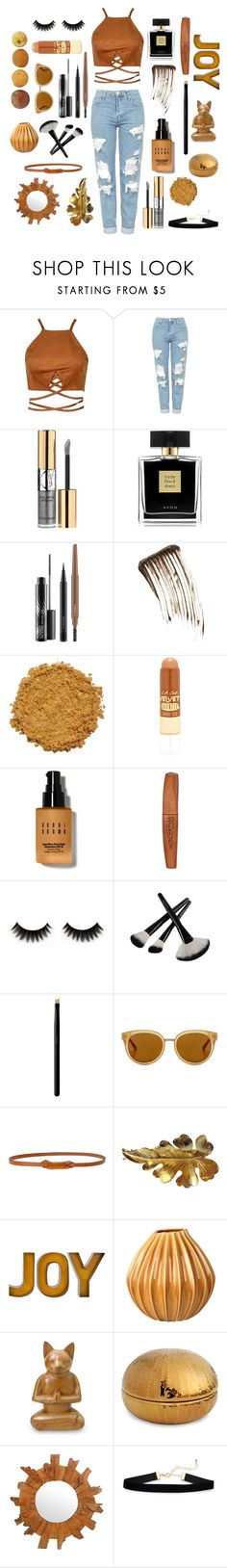 """🍂🍁🍂"" by bashful-beauty ❤ liked on Polyvore featuring Topshop, Yves Saint Laurent, Avon, MAC Cosmetics, Illamasqua, L.A. Girl, Bobbi Brown Cosmetics, Rimmel, SUQQU and Draper James"
