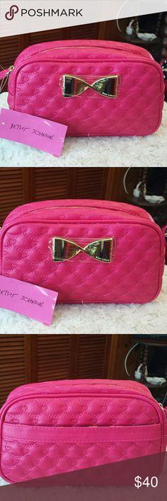 Betsy Johnson NWT Fushia Loaf Cosmetic Case Betsy Johnson NWT Fushia Loaf Cosmetic Case, Zippered Closure, Slip pocket outside Betsy Johnson  Bags Cosmetic Bags & Cases