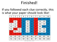 "FREE MATH LESSON - ""FREE 2013 Watch, Think, Color Hundreds Chart Fun Game"" - Go to The Best of Teacher Entrepreneurs for this and hundreds of free lessons.  http://thebestofteacherentrepreneurs.blogspot.com/2013/02/free-math-lesson-free-2013-watch-think.html"