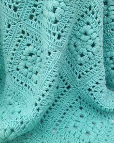 """ON SALE - limited time ~ Baby Puff Square Afghan Crochet PatternOriginal Design By Maggie WeldonIntermediate Skill Size: Approximately 42"""" square Materials: Light Worsted Weight Yarn:"""