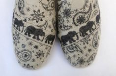 OUT OF INDIA Hand Decorated Tom's Style Shoes by BabylonSisters