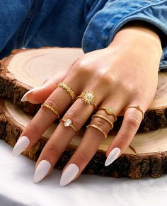 Stylish Jewelry, Simple Jewelry, Cute Jewelry, Luxury Jewelry, Jewelry Accessories, Cute Rings, Pretty Rings, Fashion Rings, Fashion Jewelry