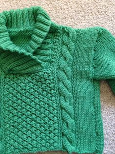 A beautiful babies sweater can be for a girl by Hannahlouiseknits