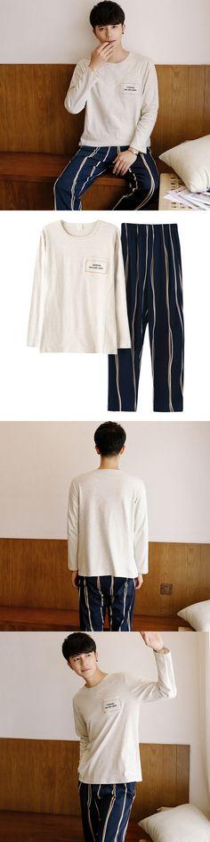 JRMISSLI Men Pajamas Long sleeve Autumn Winter Male Pajama Sets Full Cotton Pyjamas Lounge Homewear Sleepwear Suit M99026