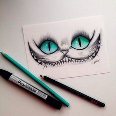 Love love love this Cheshire Cat (Alice in Wonderland) drawing. Favorite thing to draw! Alice in Wonderland Amazing Drawings, Cool Drawings, Pencil Drawings, Hipster Drawings, Gato Alice, Tumblr Drawings, Disney Drawings, Drawing Sketches, Drawing Ideas