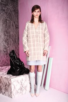 tba(to be adored) iselin mohair coat