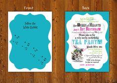 Mad Tea Party (Brights) - Printable Birthday Party Invitations (Digital File) $15