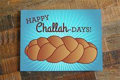 funny hanukkah card happy challah days funny card jewish holidays card happy hanukkah card funny chanukah card challah bread - Funny Hanukkah Cards
