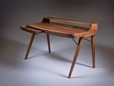 Rectangular wooden writing desk with drawers PICARD Solid Wood Furniture, Cool Furniture, Modern Furniture, Furniture Design, Modern Office Table, Modern Desk, Writing Desk With Drawers, Desks For Small Spaces, Desk Inspiration
