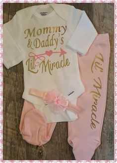 12160c140941 Newborn Baby Girl Going Home Outfit Bodysuit Boy Baby