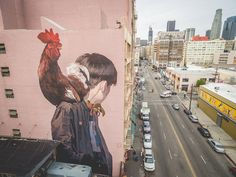"Etam Cru's ""Mr. Rooster"" is the Duo's Second Major Mural in the US 