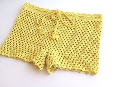 women shorts clothing beach shorts summerwear mini shorts yellow natural cotton short swimsuit senoaccessory on Etsy, 34,90 $