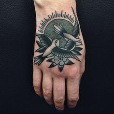 Jordan Baxter as featured on Swallows & Daggers. www.swallowsndaggers.net #tattoo #tattoos #bird