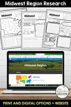 Midwest Region - one of the 5 regions of the United States - is a research project for students in grades 2-4. With this one easy lesson, your students can learn to complete a short research project. Included in this fun resource is a link to the Reference Website created exclusively for this project. The website is kid-friendly and ad-free. When you purchase Midwest Region, you get BOTH print and digital options making it easily compatible with Google Classroom™ and distance learning. Daily Lesson Plan, Lesson Plans, Reference Website, Create Website, Research Projects, Upper Elementary, Google Classroom, Social Studies, Distance