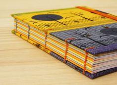 Coptic stitch. Colorful pages / Costura copta. Páginas de colores