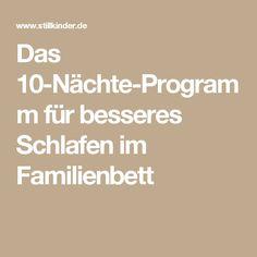 Das 10-Nächte-Programm für besseres Schlafen im Familienbett