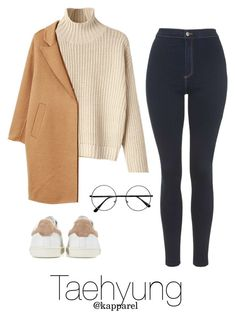 """""""Winter Outfit: Taehyung"""" by kapparel ❤ liked on Polyvore featuring Topshop, MANGO and Isabel Marant"""