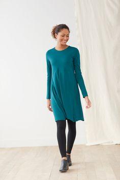 0d00e6a5b3e Swing into comfortable dressing (featuring J.Jill s Pure Jill Dipped-Hem  Swing Dress