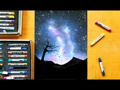 Drawing a starry night with soft pastels | Leontine van vliet - YouTube