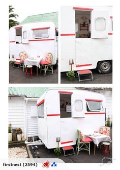 Imagine having a girly girl caravan in the back yard to escape the kids and read a mag and sip some ice tea and enjoy some silence while your house gets torn to shreds and your hubby wants to pull his hair out while HE minds the children for an hour...**sigh** Pic 1 of 4