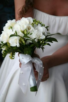 Wedding Bouquet. And that dress :)