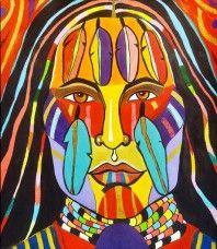Rainbow Warrior 2 Native American Paintings, Native American Symbols, Canadian Symbols, Portrait Art, Portraits, Rainbow Warrior, Southwest Art, American Indian Art, Arte Popular