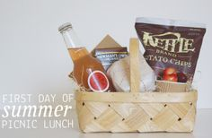 end of school year teacher gift [dandee]: Celebrate Summer | A Picnic Lunch.