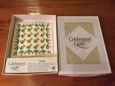 Celebration of American Quilts Ceramic Tile Ornament ~ Vintage Pineapple